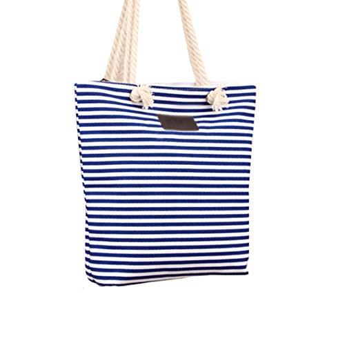 Meliya Borsa da spiaggia, Black Stripe (nero) - HY-djb-00094YA Blue Stripe