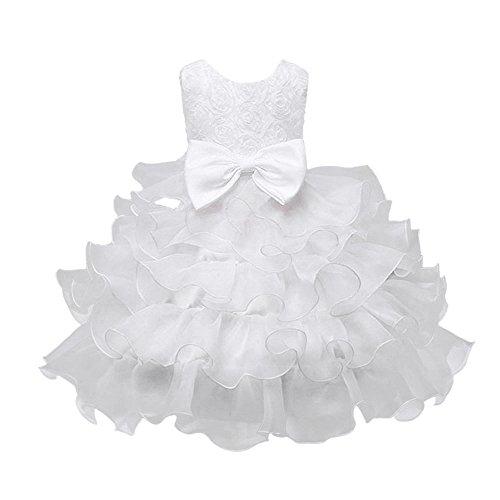 Mädchen Ärmellos Spitze 3D Blumen Heligen Tutu Urlaub Prinzessin Kleider Lang Kinder Baby Leistung Formal Tutu Mini Ballkleider Abendkleid Mädchen Prinzessin ()