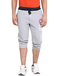 Wear Your Mind Grey Milange Cotton Shorts For Men WS025.3_S