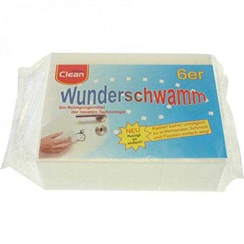 6 Stück Packung Wunderschwamm, Schmutzradierer, Putzschwamm, Radierschwamm 12x5x2,5cm
