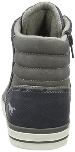 Mustang High Top Sneaker, Sneaker Alte Uomo Blu (Dunkelblau)