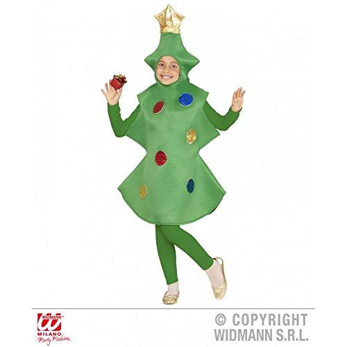 Costume de sapin de Noël avec Boules de Noël–Applications pour les enfants/Noël/Contes pour enfant taille 140(8–10ans)
