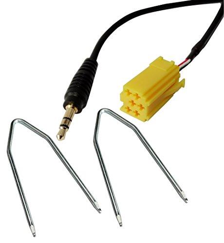 AERZETIX: Adaptador cable AUX con jack 3.5mm y llaves para desmontaje de...