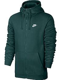 Nike Mens Sportswear Full Zip Club Hooded Sweatshirt Dark Atomic Teal White  804389-375 3e41c4cf9951