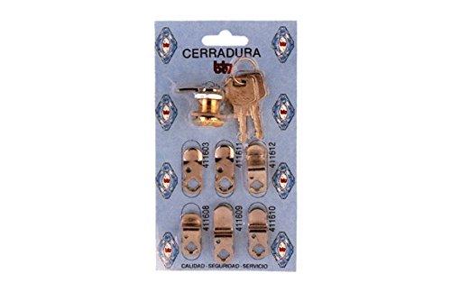 btv 60001 Cerradura buzon kit-1 cromado, Cromo, 0