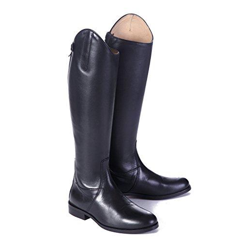Shires Norfolk Field lang Leder Stiefel Reitstiefel mit Schwarz Geschnürt Regular schwarz - schwarz