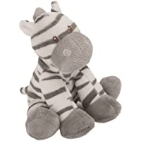 Suki Baby Small Zooma Soft Boa Plush Rattle with Embroidered Accents (Zebra)