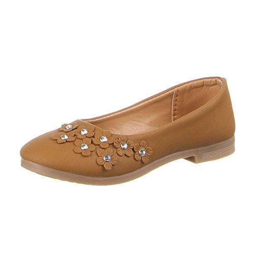 Kinder Schuhe, B-11-1, BALLERINAS Camel (31-36)