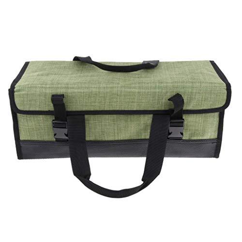 Backbayia 43 x 17 x 17 cm Zelt Heringe Aufbewahrungstasche aus Oxford-Tuch Gestängetasche für Angeln (Hellgrün)