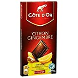 Côte D'Or - Tablette Noir Citron Gingembre 150G