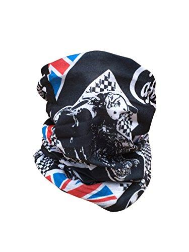 Motorrad Multifunktionstuch Schlauchtuch Kopftuch Halstuch viele Farben - Cafe Racer (Cruiser Motorrad Damen)