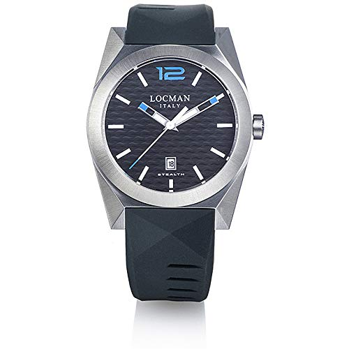 Locman New Stealth Casual Men's Time Only Watch Cod. 0810A01S-00BKSKSK