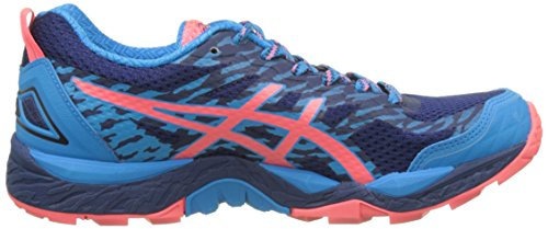 Asics Damen Gel-Fujitrabuco 5 Trail Running Schuhe Mehrfarbig (Indigo Blue / Diva Pink / Diva Blue)