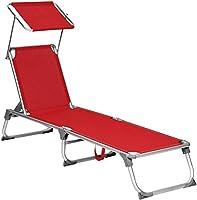 DFGWS Lot de 2 Bains de Soleil pliants, Transats textilène 2 Positions, chaises Longues Fauteuils inclinables avec...