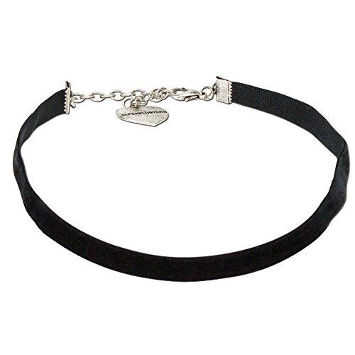 Schwarzen Kropf (Alpenflüstern Damen Samtkropfband elastisch schwarz DHK07600000)