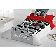 COTTON ART- Funda Nórdica Infantil / Juvenil RACE CALIFORNIA Cama de 105 (180X260cm)+ 1 FUNDA DE ALMOHADA (45X120cm). ALGODÓN 100%. Disponible para cama de 90 y 105.