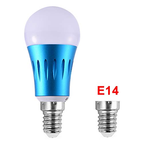 SQUAREDO WiFi Smart Birne, mehrfarbige LED-Dimmable 7W RGB-Glühlampe, Smartphone-gesteuertes Tageslicht und Nachtlicht, kompatibel mit Alexa und Google Home Size E14