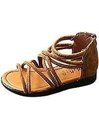 57aef4d8b6d EU21- 30 Bebe Fille ETE Sandales Plage Cuir Chaussures Plat Gladiateur  Sandales