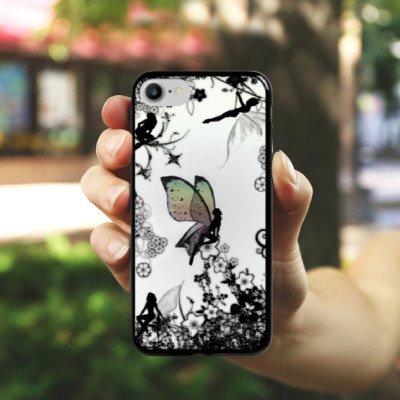 Apple iPhone SE Silikon Hülle Case Schutzhülle Elfe Fee Schmetterling Hard Case schwarz