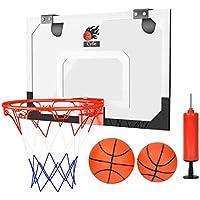 Dewel Canasta Baloncesto ,Tablero de pared de baloncesto para Oficina y casa (Incluyendo Inflador y dos Pelotas)