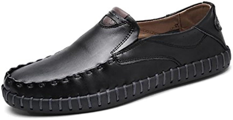 Herren Sommer Coole Sandalen Mode Strand Schuhe Ledersandalen Black 43.5