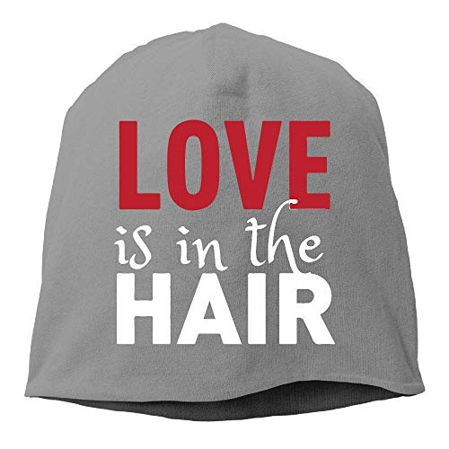 Unisex Fit Knitted Caps, Love is in The Hair Ski Cap Mens & Womens ball cap -