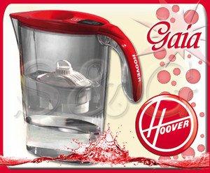 Hoover Gaia Wasser Filter Krug mit Rot X Pure Wasser Filter Küche 2,25L Typ Brita (Wasser-filter-system Krug)