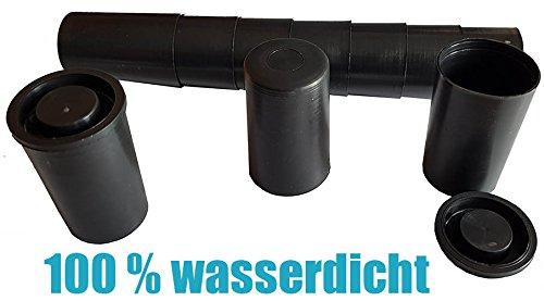 50 x Filmdose - schwarz Geocaching Versteck mit Deckel - Filmdosen - film cannister