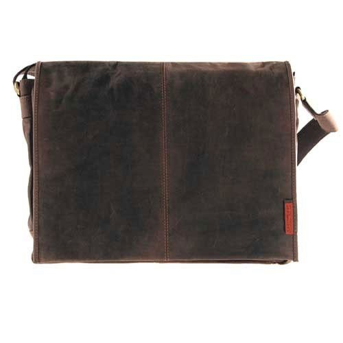 Laptoptasche / Messenger-Bag aus geöltem Buffalo-Leder - Extremely rugged Outback Wear, Farbe:Dark Muskat