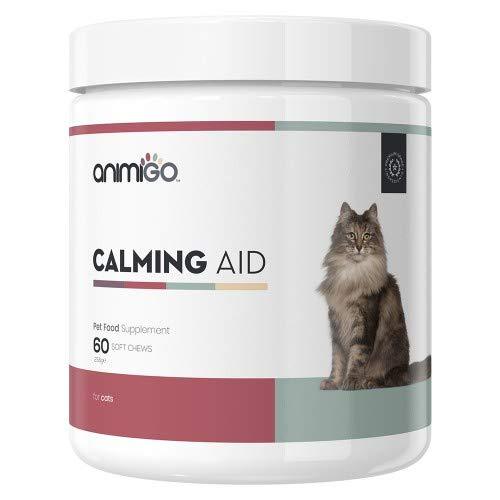 Animigo Beruhigungsmittel für Katzen 60 Soft Kautabletten Natürliche Entspannungs Kautabletten