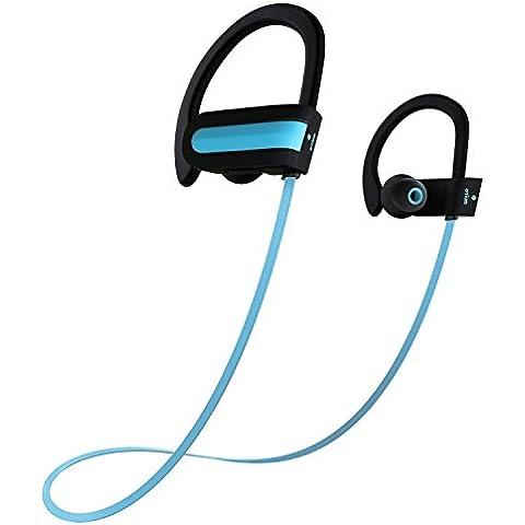 Auriculares inalámbricos Bluetooth, Otium® Deportes auriculares inalámbricos estéreo bajo Sweatproof auriculares de botón Auriculares con micrófono y cancelación de ruido para el iPhone Samsung LG