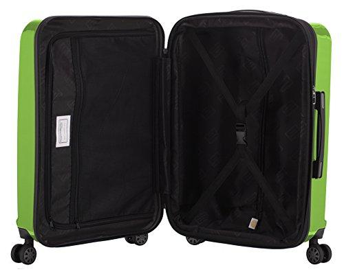 HAUPTSTADTKOFFER - X-Berg - Handgepäck Hartschalenkoffer Koffer Trolley, 55 cm, 42 Liter, TSA, Apfelgrün -