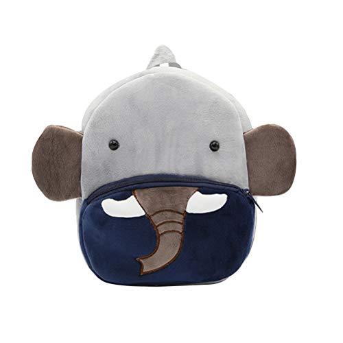 Toyvian Mochila para niños Mochila Preescolar Elefante Animal Mochilas de Kindergarten