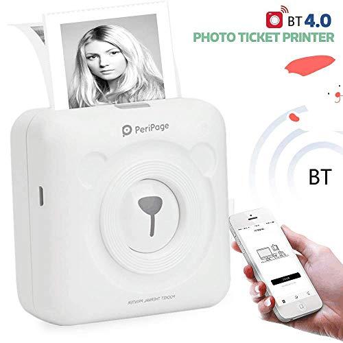 Aibecy GOOJPRT PeriPage Mini Pocket Stampante termica BT senza fili Immagine Photo Label Memo Receipt Stampante di carta con cavo USB Supporto per Android iOS Smartphone Windows