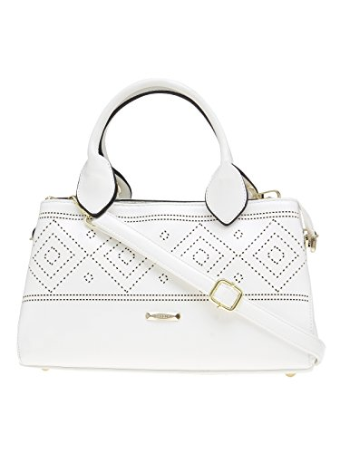 ESBEDA White Solid Pu Synthetic Material Arm Handbag For Women's