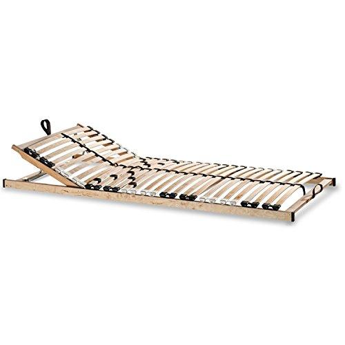 Betten ABC Lattenrost Max KV zur Selbstmontage / Lattenrahmen in 100 x 200 cm mit verstellbarem Kopfteil und 28 flexiblen Federholzleisten - geeignet für alle Matratzen