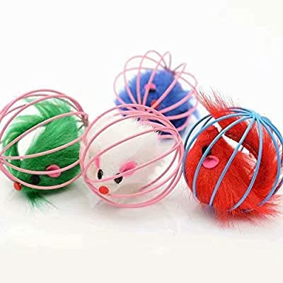 Lsv-8 Pack of 5 Furry Kitten Mice Cat Toys with Feathers and Fur : everything 5 pounds (or less!)