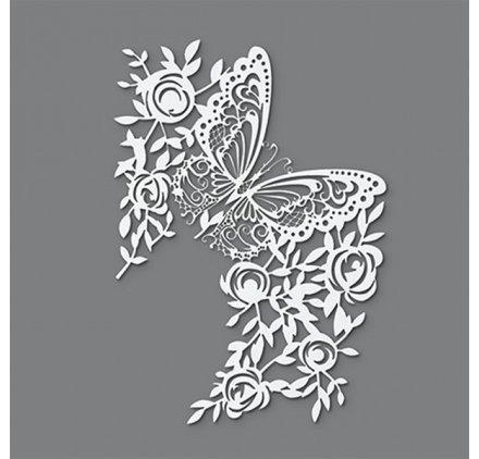efco Schablone Schmetterling/1Design DIN, Kunststoff, transparent, A 4