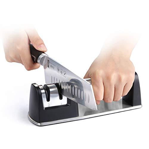 QNJM Messerschärfer, 2-stufiges Beschichtetes Radsystem Messerschärfen Mit Rutschfestem...
