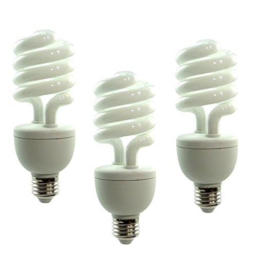 DynaSun 3X Fotolampe Spirallampe Energiesparlampe SYD 26, Tageslichtlampe Studioleuchte, 150W weiß -