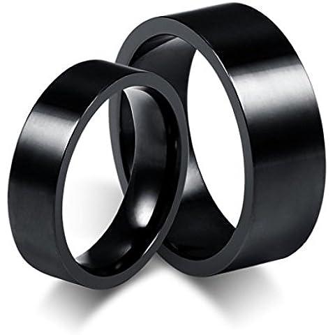 Uomo Donna Matrimonio Banda Acciaio Inossidabile Lucidato Di AieniD