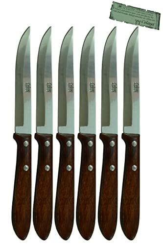 Couteau de table Bois Celaya Phylum Lot 6 Unités