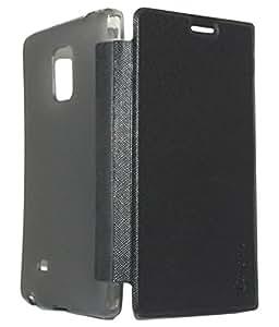 Royal Rusi - Black Caidea Flip Cover , Stylus Pen , Otg Cable For Samsung Galaxy E5