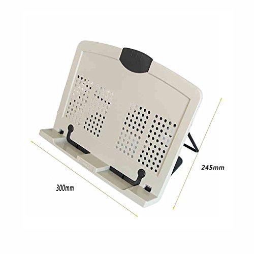 JIN PING Beautiful Homes® Soporte de libro, portátil soporte de enfriamiento estante de lectura lectura del estante