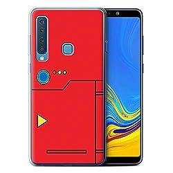 eSwish Gel TPU Hülle/Case für Samsung Galaxy A9 2018 / Rot Muster/Anime Cartoon Kodex Kollektion