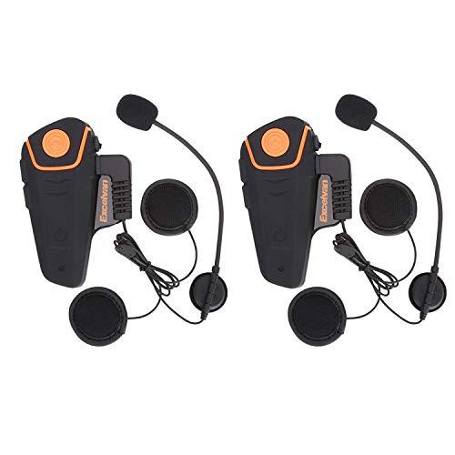 Excelvan 2×Auriculares Intercomunicador Bluetooth para Motocicleta Casco Moto Intercom Headset 1000M Radio...