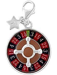 Ndose y rueda de la ruleta de la plata esterlina clip en encanto SCH279