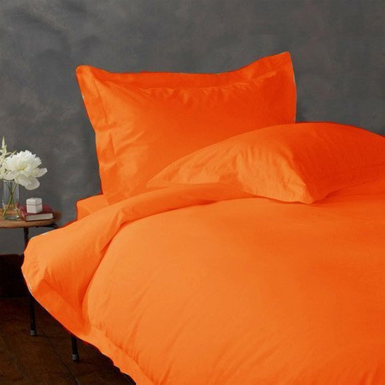 laxlinens 500 fils en coton égyptien 4 4 4 pièces pour lit (+ 76,2 cm) Extra profonde poche Euro Super King Size, massif Orange 422dd0