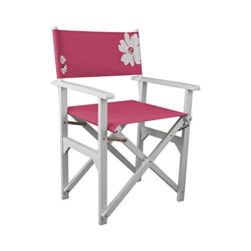 Regiestuhl mit Armlehnen Campingstuhl Faltstuhl Gartenstuhl Klappstuhl klappbar - Pink