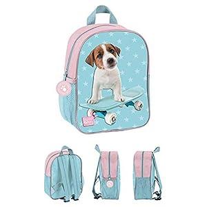 FACTORYCR- Mochila Dog Blue pta303 Studio Pets 28x22x10 cms, Color Rosa, 22x28x10 (PTA-303)